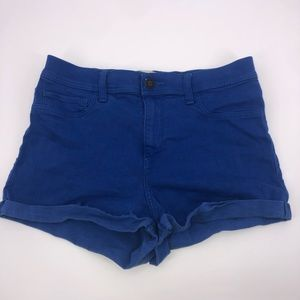 Hollister Blue High Rise Denim Shorts 9